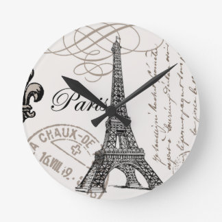 Vintage Eiffel Tower...wall clock