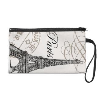 Vintage Eiffel Tower...wristlet