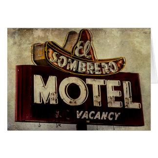 Vintage El Sombrero Motel Sign Card