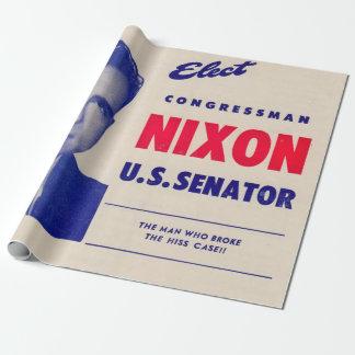 Vintage Elect Congressman Nixon Senator Wrapping Paper