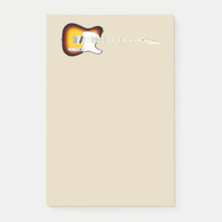 Vintage Electric Guitar Illustration Post-it Notes