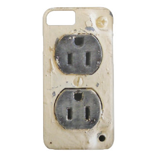 Vintage Electrical Outlet iPhone 7 Case