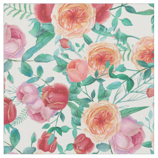 Vintage Elegance | Chic Antique Roses Pattern Fabric