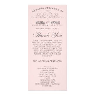 VINTAGE ELEGANCE | WEDDING PROGRAM 10 CM X 23 CM RACK CARD