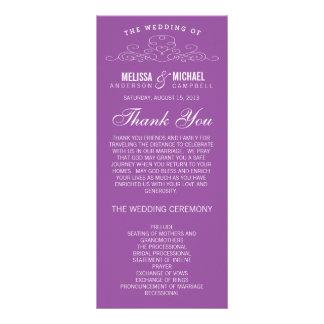 VINTAGE ELEGANCE | WEDDING PROGRAM CUSTOM RACK CARD