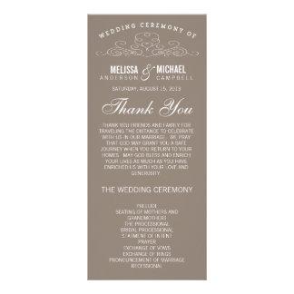 VINTAGE ELEGANCE   WEDDING PROGRAM RACK CARD TEMPLATE