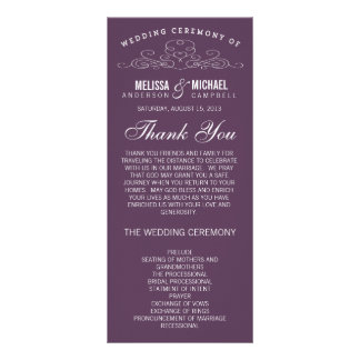 VINTAGE ELEGANCE   WEDDING PROGRAM RACK CARDS
