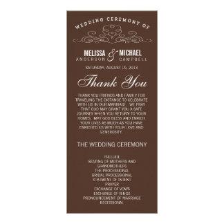 VINTAGE ELEGANCE | WEDDING PROGRAM PERSONALIZED RACK CARD