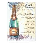 Vintage Elegant 50th Anniversary Party Invitations 13 Cm X 18 Cm Invitation Card