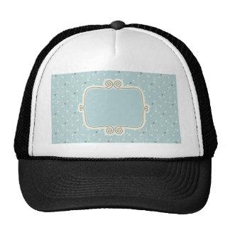 Vintage,elegant blue,damask,antique,chic,read cap
