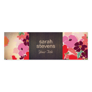 Vintage Elegant Colorful Floral Wood and Gold Business Card Templates
