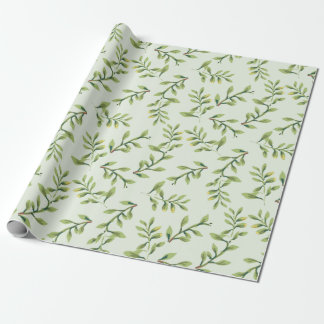 Vintage Elegant Cute Green Leaves