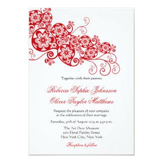 Vintage Elegant Floral Paisley Boho Wedding Invite