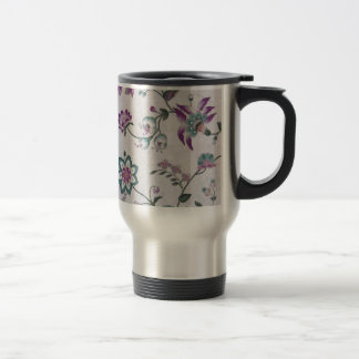 Vintage Elegant Floral Pattern Stainless Steel Travel Mug