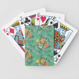 vintage elegant flowers floral theme pattern bicycle playing cards