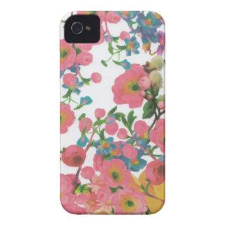 vintage elegant flowers floral theme pattern Case-Mate iPhone 4 case