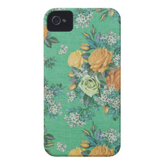 vintage elegant flowers floral theme pattern Case-Mate iPhone 4 case