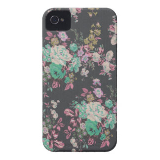 vintage elegant flowers floral theme pattern Case-Mate iPhone 4 cases