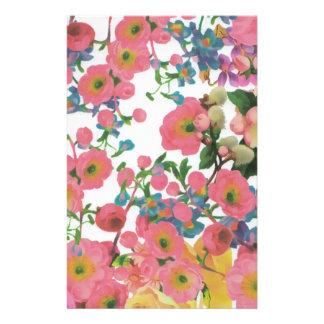 vintage elegant flowers floral theme pattern custom stationery