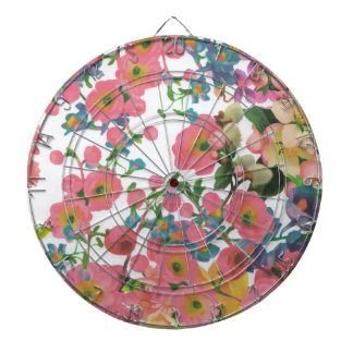 vintage elegant flowers floral theme pattern dartboard with darts