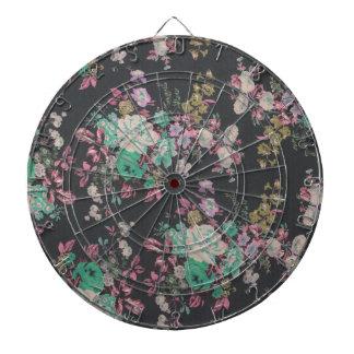 vintage elegant flowers floral theme pattern dartboards