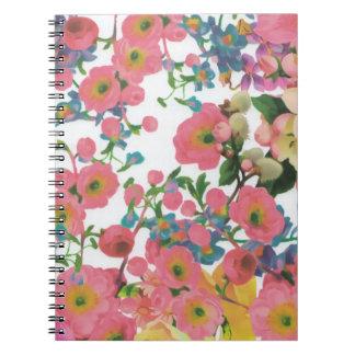 vintage elegant flowers floral theme pattern notebook
