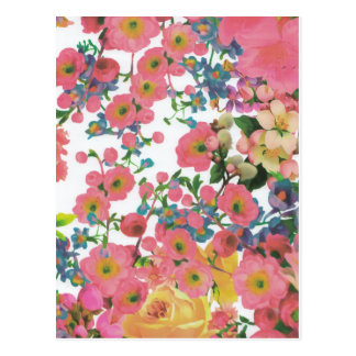 vintage elegant flowers floral theme pattern postcard