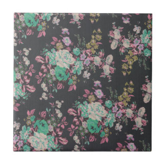vintage elegant flowers floral theme pattern small square tile
