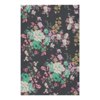 vintage elegant flowers floral theme pattern stationery