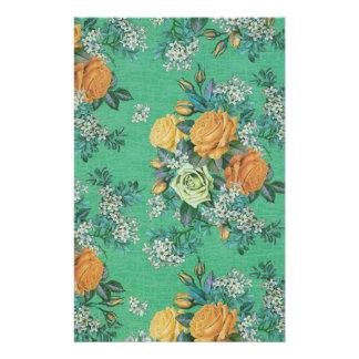 vintage elegant flowers floral theme pattern stationery paper