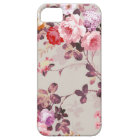 Vintage Elegant Pink Red Purple Roses Pattern Barely There iPhone 5 Case