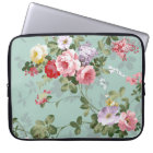 Vintage Elegant Pink Red Roses Pattern Laptop Sleeve