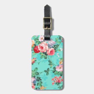 Vintage Elegant Pink Red Yellow Roses Pattern Tags For Luggage