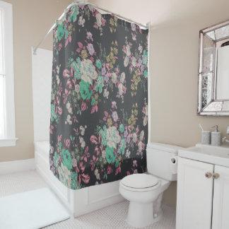 vintage elegant roses flowers shower curtain