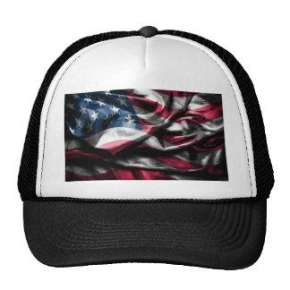 Vintage elegant rustic wornout USA Flagg Cap