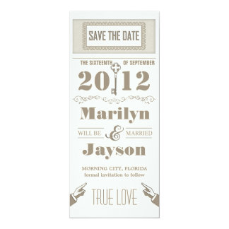 vintage elegant unique save the date invitations