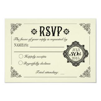 Vintage Elegant Wedding Invitation RSVP