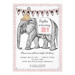 Vintage Elephant Circus Parade Invitation