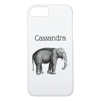 Vintage Elephant Drawing iPhone 8/7 Case