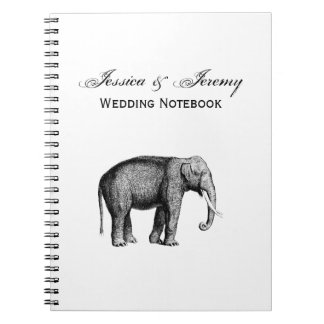 Vintage Elephant Drawing Notebook