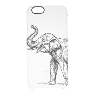 Vintage elephant drawing simple trendy clear clear iPhone 6/6S case