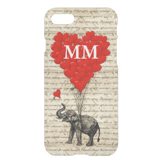 Vintage elephant heart iPhone 7 case