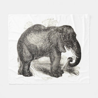 Vintage Elephant Illustration (1891) Fleece Blanket