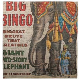 Vintage elephant napkin