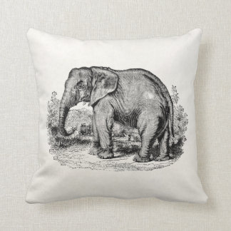 Vintage Elephant Personalized Elephants Animals Throw Pillow