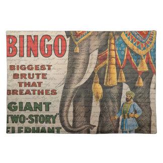 Vintage elephant placemat