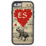 Vintage elephant & red heart balloons tough xtreme iPhone 6 case