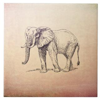 Vintage Elephant Tile