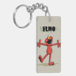 Vintage Elmo Double-Sided Rectangular Acrylic Key Ring