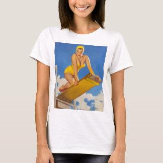 Vintage Elvgren Diving Board Swimmer Pinup Girl T-Shirt